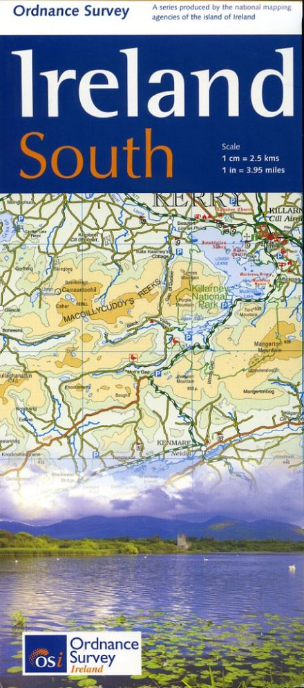 Ordnance Survey Ireland Road Map - South - 1:250,000